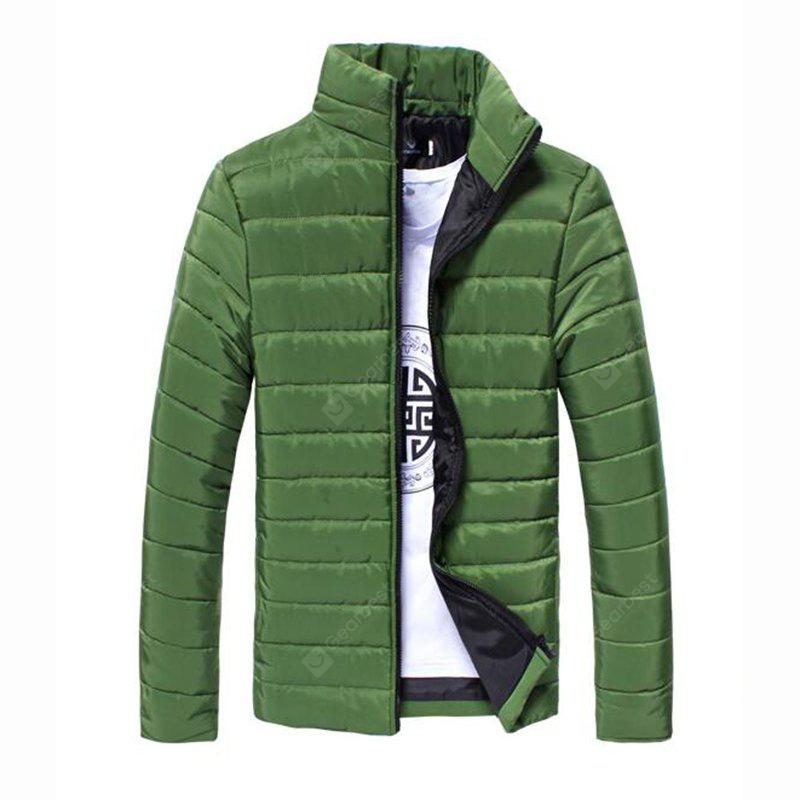 Men's Regular Padded Coat Chinoiserie Plus Size Solid Cotton Cotton Long Sleeves Coat