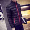 Men's Regular Padded Coat Keep Warm Plus Size Solid Rayon Polyester Long Sleeves - BLACK