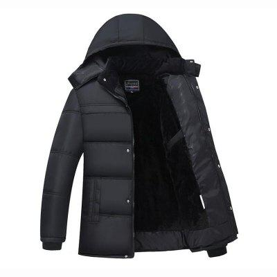 Men's Regular Padded Coat Simple Going out Casual Daily Solid Cotton Cotton Long Sleeves Hooded