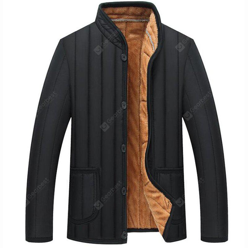 Men 's Plush Liner Large Size Warm And Comfortable Thick Cotton Jacket