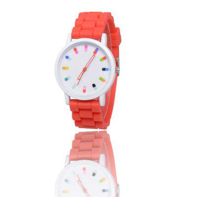 New Popular Children'S Watch Cute Simple Style Silicone Strap with Gift Box