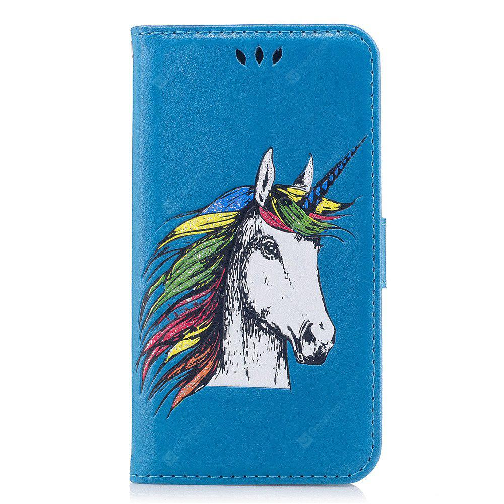 Unicorn Pattern Horizontal Flip Leather Case with Holder Card Slots Wallet for iPhone 8 Plus / 7 Plus