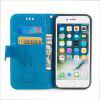 Unicorn Pattern Horizontal Flip Leather Case with Holder Card Slots Wallet for iPhone 8 Plus / 7 Plus - BLUE