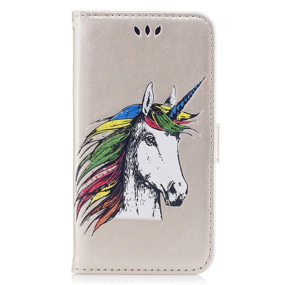 Wallet Case For Samsung S5 Flip Cover Unicorn Pattern Bookstyle Folio PU Leather Cell Phone Holster Stan