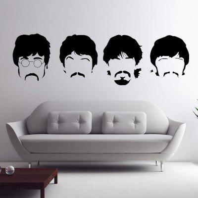 Beatles Wall Decals New Designs Removable Music The Beatles Vinyl Wall  Stickers Home Decor