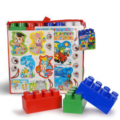 Large granule colored plastic block grant stickers for children toys