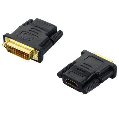 HDMI Female to DVI 24+5Pin Male Adapter Connector