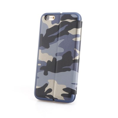 Camouflage Leather Cover for iPhone 6 Plus/6s Plus with Card Slot and Stand Holder two tone cross pattern leather stand case for iphone 6 plus 6s plus with card slot blue