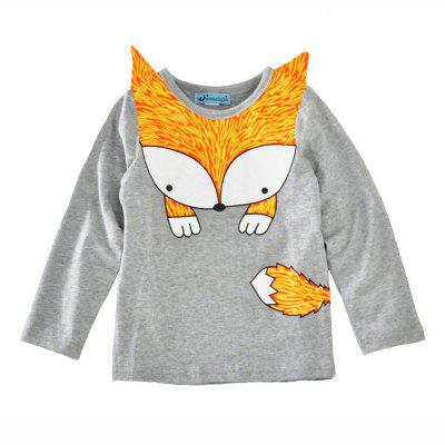 SOSOCOER Children Clothing 2-7T Spring and Autumn Fashion Fox T - Shirt