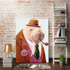 Modern Frameless Canvas Print of Cartoon Sea Lion for Home Decoration - COLORFUL