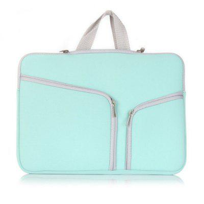 Soft Sleeve Case Double Pocket Zipper Laptop Bag for 15.4 Inch