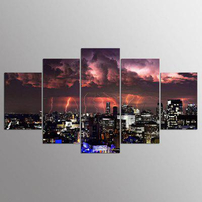 YSDAFEN 5 Panel Modern The Calm Before The Storm Canvas Art para Living Room Wall Picture