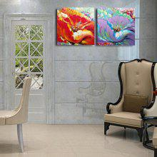 Happy Art Handed Canvas Modern Abstract Flower Oil Painting Art
