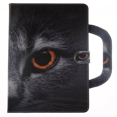 Stereoscopic Painted PU Leather Case for iPad 6 / iPad Air 2