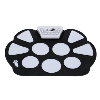 Electronic Drum Set with Drumsticks Roll Up Foldable Style Silicon Pad 6pcs set 39x 27 5x2 5cm silica gel foldable portable roller up usb electronic drum kit 2 drum sticks 2 foot pedals