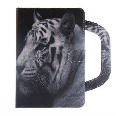 White Tiger Leather Wallet Cover Design with Stand and Portable Card Slots Magnetic Closure Case for iPad Mini 1/2/3 white doormoon for iphone 5c wallet genuine leather cover with stand