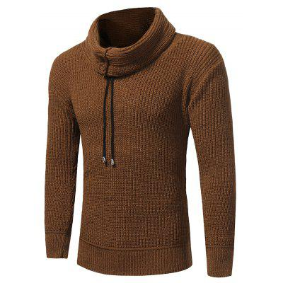 2017 New Men'S Solid Color Turtleneck Long-Sleeved Sweater Fashion Elastic Thick Sweater