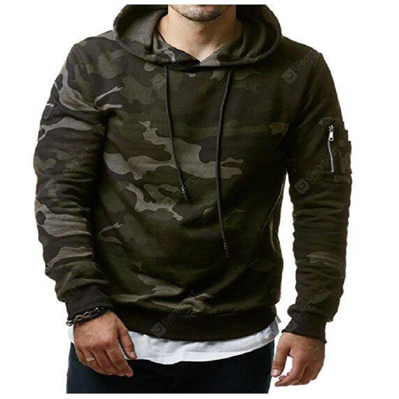 Autumn and Winter New Classic Camouflage Casual Men'S Hoodie Hoodie