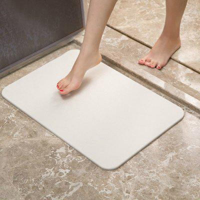 Bathroom Floor Mat Solid Color Quick Water Absorbent Soft Rectangle Mat