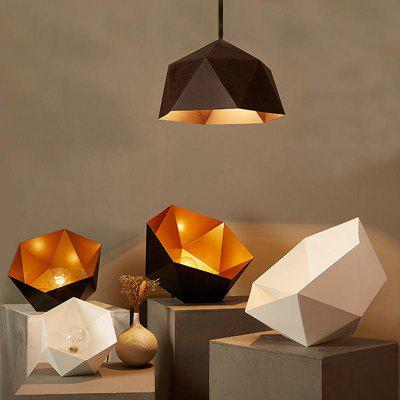 Modern Black Pendant Lamp Rhombus Shape for Office Room  Living Dining Room Bedrooms