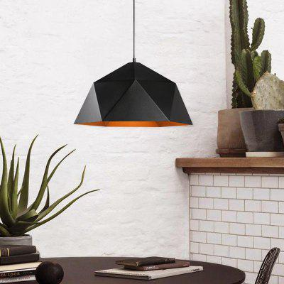 Modern Simple Style Black Pendant Lamp Rhombus Shape for Office Room  Living Dining Room Bedrooms