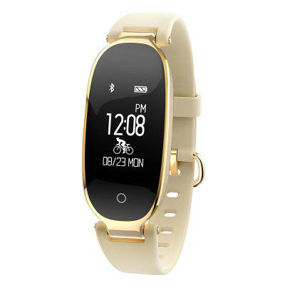Women Waterproof Fitness Tracker Lady Smart Wristband Heart Rate Bluetooth Wireless Bracelet Syncs with Apple's Healthy