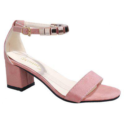 Lady Toe Coarse Mouth Buckle Hairtail All-match Casual Sandals