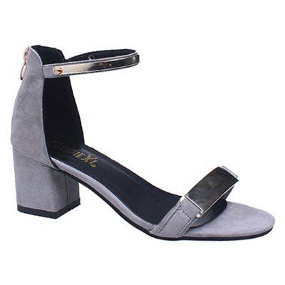 Spring and Summer Fashion Toe Buckle Strap with Coarse Fish Mouth Korean Version Rome Shoes