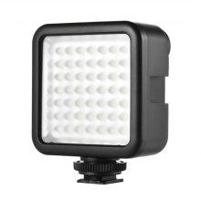 W49 Mini Interlock Camera LED Panel Light Dimmable Camcorder Video Lighting With Shoe Mount Adapter for Canon Nikon Sony