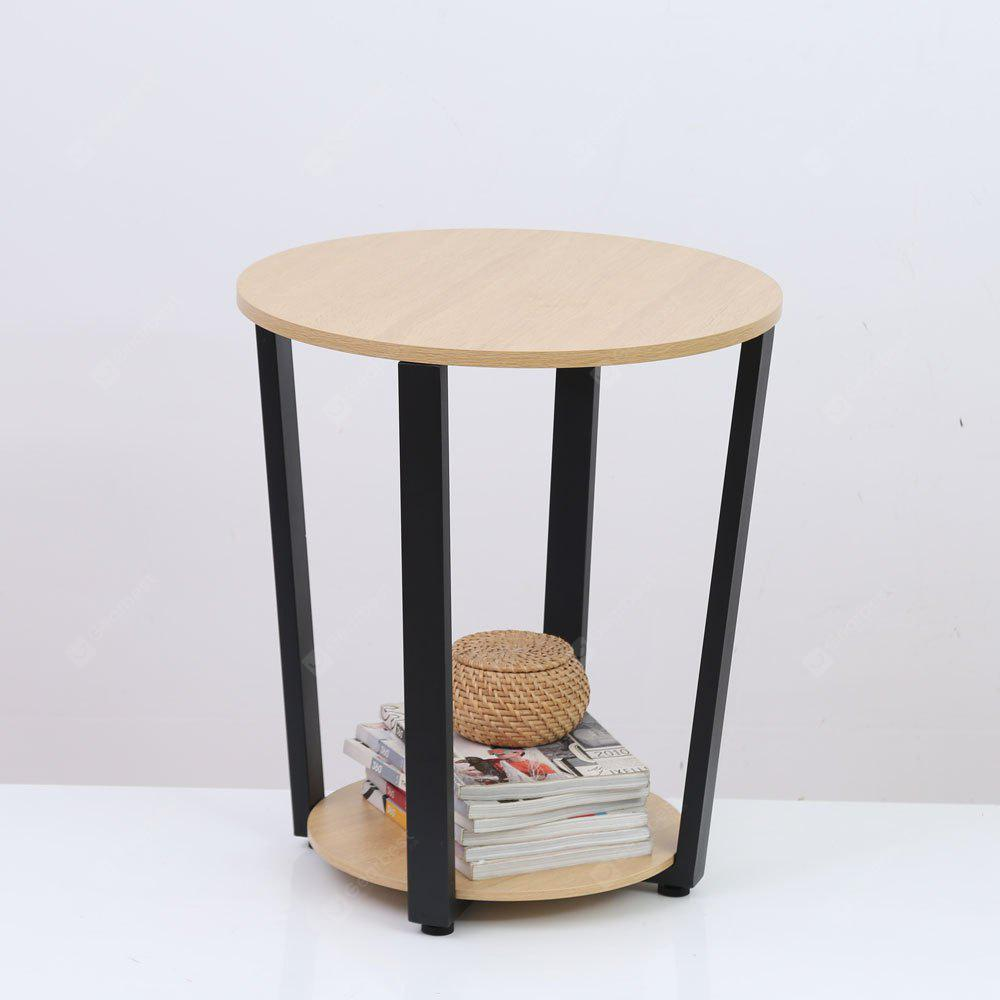 Wooden Desktop Round Table Living Room Side Table Coffee Table ...