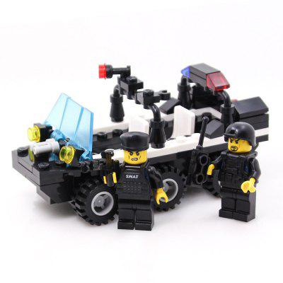 Kids Adult Educational Toy Building Bricks SWAT Patrol Armored Car Blocks Assembled Gift