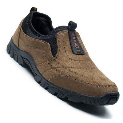 Mænds Casual Trend of Fashion Rubber Outdoor Older Solid Læder Sofaer Læder Hard Wearing Shoes
