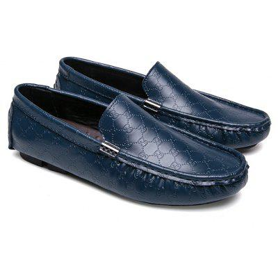 Men Loafers Driving Casual Shoes Slip on Fashion Leisure Leather Comfortable Footwear branded men s penny loafes casual men s full grain leather emboss crocodile boat shoes slip on breathable moccasin driving shoes