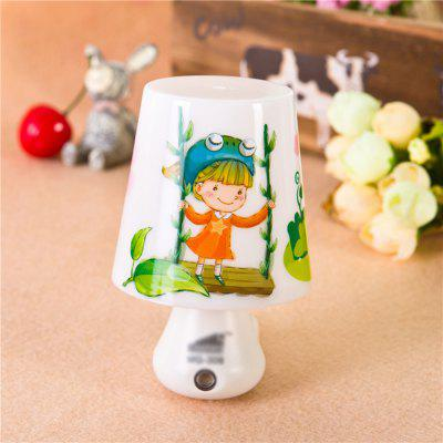 Swing Girl Cup Photoelectric Induction Plug - Light Night Lamp