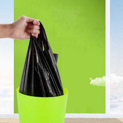 Black Garbage Trash Bag Vest Padded Thicken Portable Hotel Home Kitchen Office Large Plastic Bag