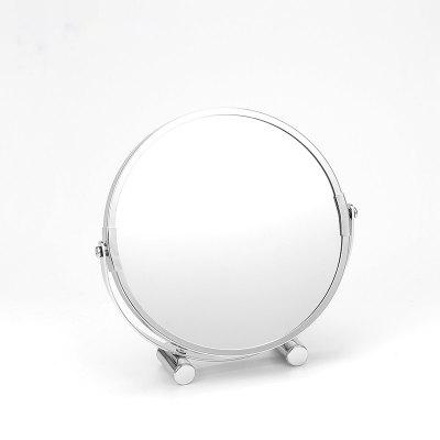 European Round Shaped Double-Side Beauty Makeup Bathroom Mirror Standing