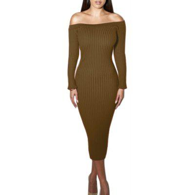 Hot Style Women'S Stretched-Out Strapless Dress with A Strap-Back Dress with Elegant Fishtail Wrap Dress