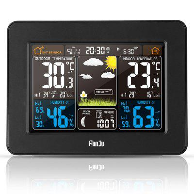 Buy BLACK FJ3365B Digital Color Forecast Weather Station with Alert and Temperature/Humidity/Barometer/Alarm/Moon phase for $29.21 in GearBest store