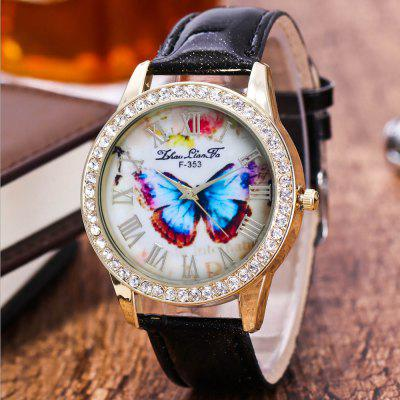 ZhouLianFa New Trend Diamond Crystal Gold Business Casual Butterfly Stone Table with Gift BoxWomens Watches<br>ZhouLianFa New Trend Diamond Crystal Gold Business Casual Butterfly Stone Table with Gift Box<br><br>Band material: PU Leather<br>Band size: 23 x 2cm<br>Brand: ZhouLianFa<br>Case material: Alloy<br>Clasp type: Pin buckle<br>Dial size: 4 x 4 x 1cm<br>Display type: Analog<br>Movement type: Quartz watch<br>Package Contents: 1 x Watch , 1 x Box<br>Package size (L x W x H): 14.00 x 9.00 x 6.00 cm / 5.51 x 3.54 x 2.36 inches<br>Package weight: 0.1000 kg<br>Product size (L x W x H): 23.00 x 4.00 x 1.00 cm / 9.06 x 1.57 x 0.39 inches<br>Product weight: 0.0300 kg<br>Shape of the dial: Round<br>Watch mirror: Mineral glass<br>Watch style: Casual, Fashion, Classic, Business, Retro, Lovely, Outdoor Sports, Childlike<br>Watches categories: Women,Female table<br>Water resistance: No