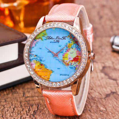 ZhouLianFa New Crystal Grain Leather Strap Rose Gold Dial Diamond Ladies Leisure Map Quartz Watch with Gift BoxWomens Watches<br>ZhouLianFa New Crystal Grain Leather Strap Rose Gold Dial Diamond Ladies Leisure Map Quartz Watch with Gift Box<br><br>Band material: PU Leather<br>Band size: 23 x 2cm<br>Brand: ZhouLianFa<br>Case material: Alloy<br>Clasp type: Pin buckle<br>Dial size: 4 x 4 x 1cm<br>Display type: Analog<br>Movement type: Quartz watch<br>Package Contents: 1 x Watch , 1 x Box<br>Package size (L x W x H): 14.00 x 9.00 x 6.00 cm / 5.51 x 3.54 x 2.36 inches<br>Package weight: 0.1000 kg<br>Product size (L x W x H): 23.00 x 4.00 x 1.00 cm / 9.06 x 1.57 x 0.39 inches<br>Product weight: 0.0300 kg<br>Shape of the dial: Round<br>Watch mirror: Mineral glass<br>Watch style: Casual, Fashion, Classic, Business, Retro, Lovely, Outdoor Sports, Childlike<br>Watches categories: Women,Female table<br>Water resistance: No