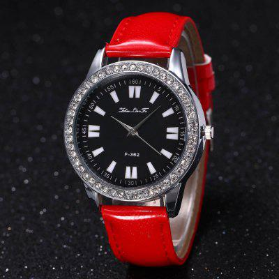 ZhouLianFa New Crystal Grain Leather Strap Silver Dial Diamond Ladies Leisure Quartz Watch with Gift BoxWomens Watches<br>ZhouLianFa New Crystal Grain Leather Strap Silver Dial Diamond Ladies Leisure Quartz Watch with Gift Box<br><br>Band material: PU Leather<br>Band size: 23 x 2cm<br>Brand: ZhouLianFa<br>Case material: Alloy<br>Clasp type: Pin buckle<br>Dial size: 4 x 4 x 1cm<br>Display type: Analog<br>Movement type: Quartz watch<br>Package Contents: 1 x Watch , 1 x Box<br>Package size (L x W x H): 14.00 x 9.00 x 6.00 cm / 5.51 x 3.54 x 2.36 inches<br>Package weight: 0.1000 kg<br>Product size (L x W x H): 23.00 x 4.00 x 1.00 cm / 9.06 x 1.57 x 0.39 inches<br>Product weight: 0.0300 kg<br>Shape of the dial: Round<br>Watch mirror: Mineral glass<br>Watch style: Casual, Fashion, Classic, Business, Retro, Lovely, Outdoor Sports, Childlike<br>Watches categories: Women,Female table<br>Water resistance: No