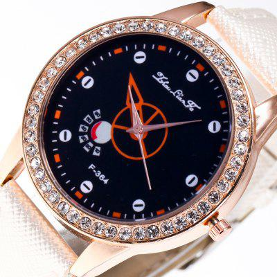 ZhouLianFa New Stylish Crystal Grain Leather Strap Rose Gold Dial Diamond Ladies Business Quartz Watch with Gift Box full size 4 4 solid basswood electric acoustic violin with violin case bow rosin parts accessories for musical instruments lover