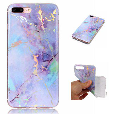 Hot Granite Marble Texture Phone Case Soft TPU Back Cover for iPhone 7 Plus / 8 Plus twill pattern hybrid pc tpu phone cover for iphone 7 plus grey