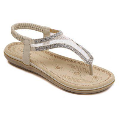 Ladies Rubber Sole Water Drill Net Clip for Sandals