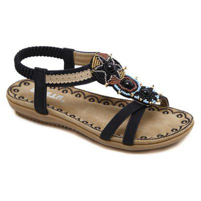 Ladies Rubber Sole National Wind Foreign Trade Large - Size Strappy Sandals