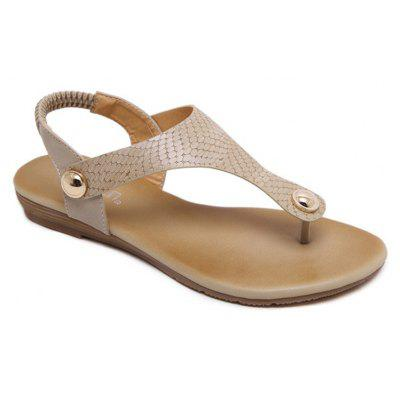 Ladies Rubber Sole Metal Clasp Toe Flats