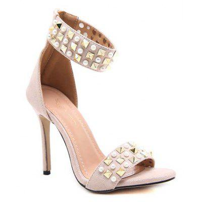 Women'S Rubber Sole Is Decorated in Luxury Rivets with High Heels and Sandals