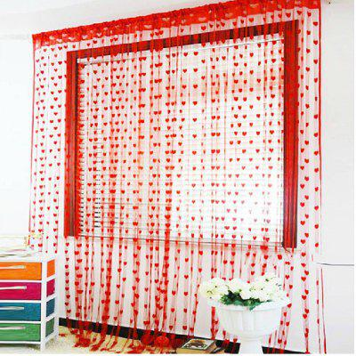 Love Heart Straight Line CurtainWindow Treatments<br>Love Heart Straight Line Curtain<br><br>Crafts: Yarn Dyed<br>Curtain Pattern: Tassel,Hearts,Bohemian Style,Textured<br>Curtain Style: Novelty,Modern Style,Barroco,Modern/Comtemporary,Chinese red<br>Curtain Type: Sheer Curtains Shades,Door Panel Curtains Drapes<br>Package Contents: 1 x Curtain<br>Package size (L x W x H): 15.00 x 20.00 x 0.40 cm / 5.91 x 7.87 x 0.16 inches<br>Package weight: 0.0700 kg<br>Top Construction: Rod pocket<br>Type: Curtain