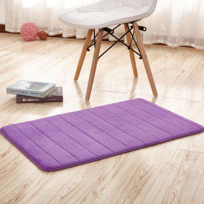 Buy PURPLE 80X120CM Doormat Solid Thick Anti-skidding Coral Fleece Cozy Bathroom Mat for $24.35 in GearBest store
