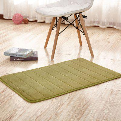 Buy GREEN 140X200CM Doormat Solid Thick Antiskidding Coral Fleece Cozy Bathroom Mat for $62.39 in GearBest store